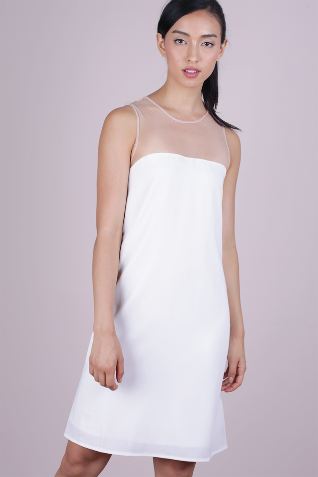 Cel Mesh Dress (White)