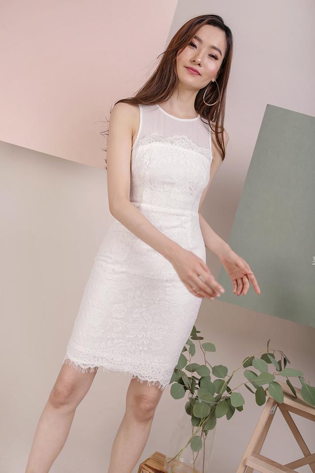 Kris Lace Dress (White)