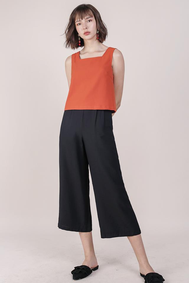 Dione Linen Culottes (Black)
