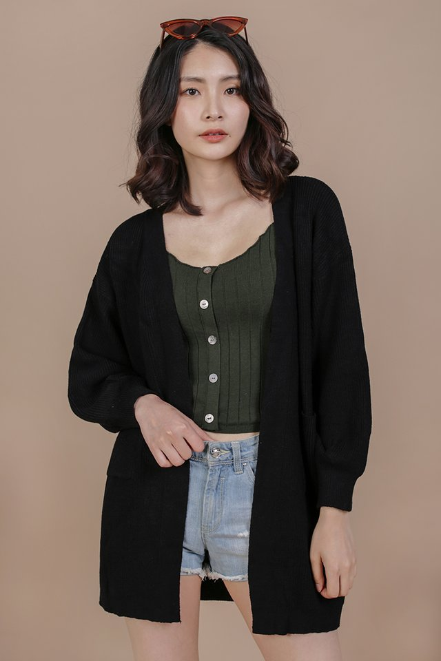 Oscar Knit Cardigan (Black)