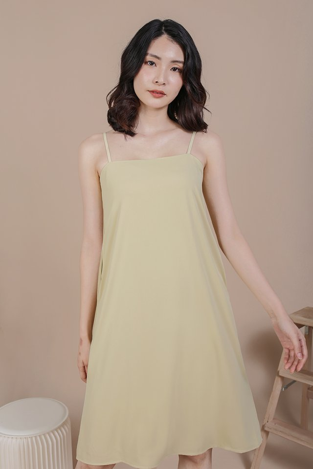 Forelle Midi Dress (Lemongrass)
