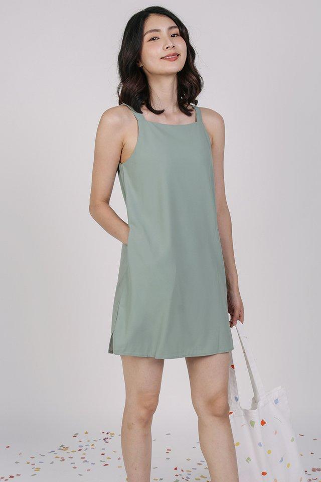 Gemma Slip Dress (Seafoam)