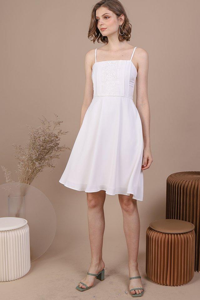 Kaye Crochet Dress (White)