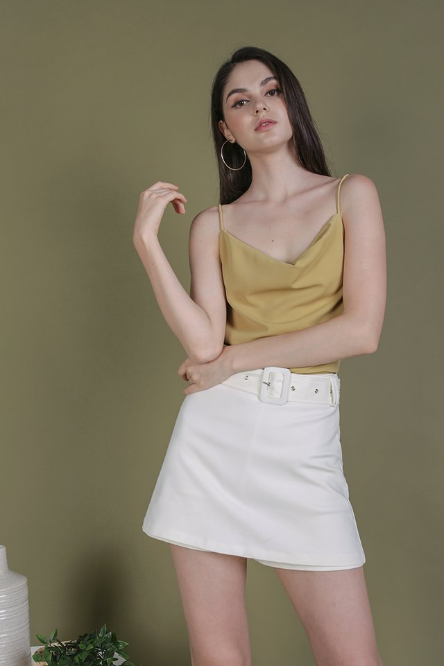 Riva Cowl Neck Top (Ginger Yellow)