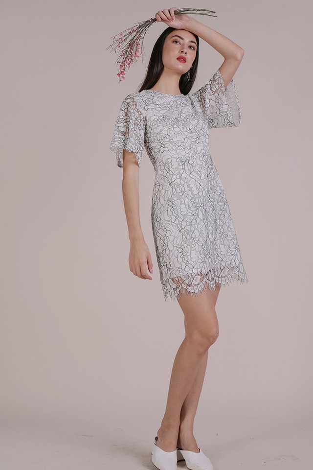 Vienna Lace Dress (White)