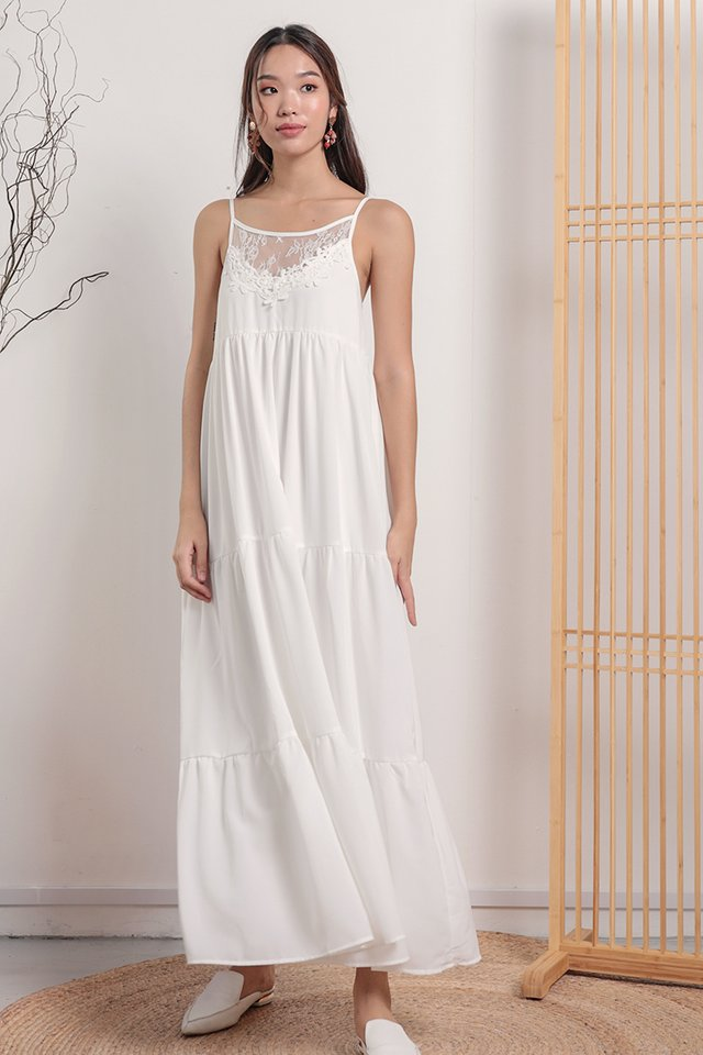 Arla Lace Maxi Dress (White)