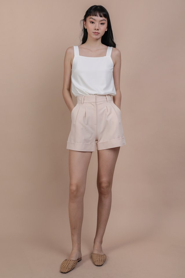 Brook Tailored Shorts (Peony Pink)