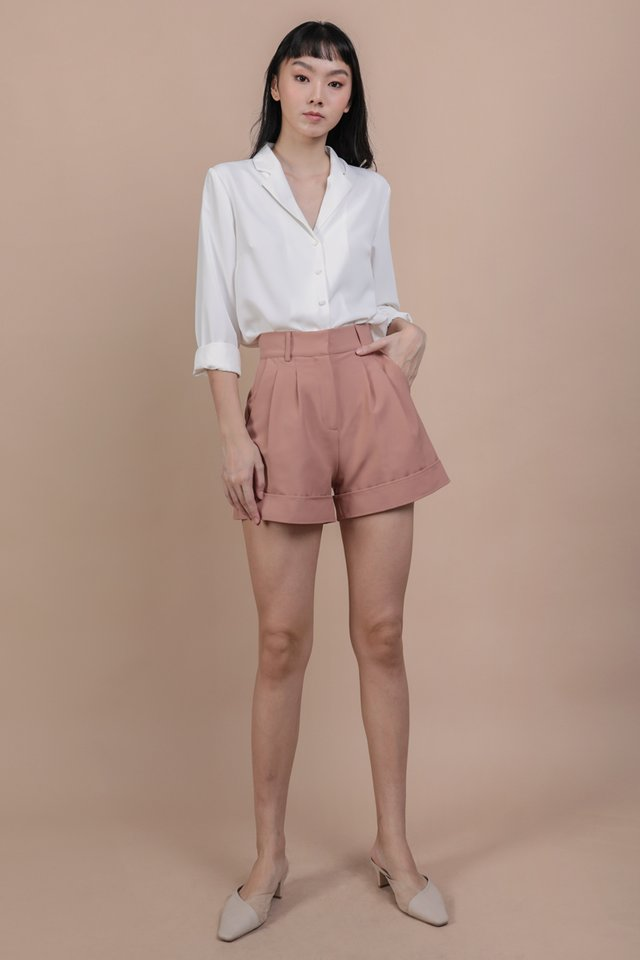 Brook Tailored Shorts (Tea Rose)