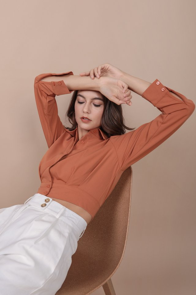 Sami Cropped Shirt (Sienna)