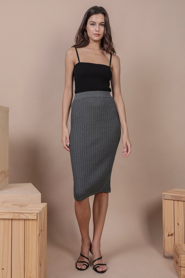 Walker Knit Skirt (Grey)
