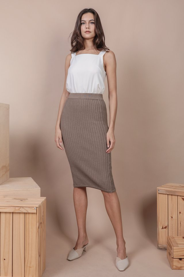 Walker Knit Skirt (Taupe)