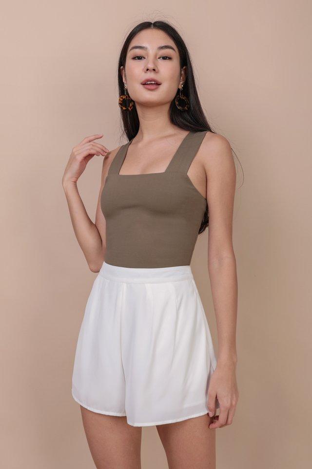 Petal Flare Shorts (White)