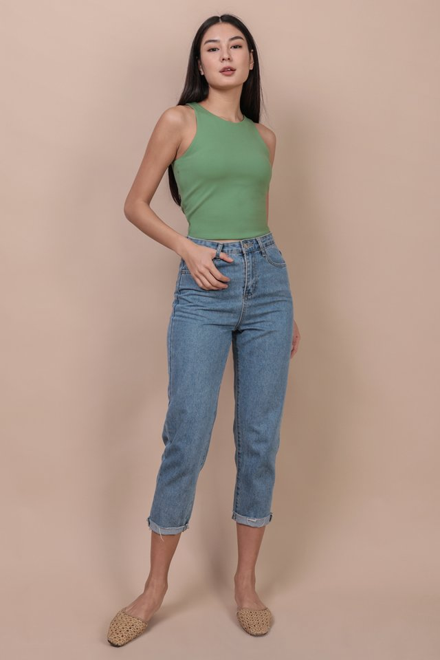 Demi Racercut Top (Fern)