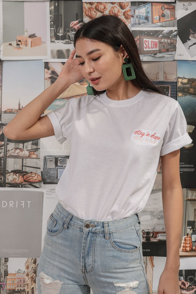 Stay In Bed Tee (White)