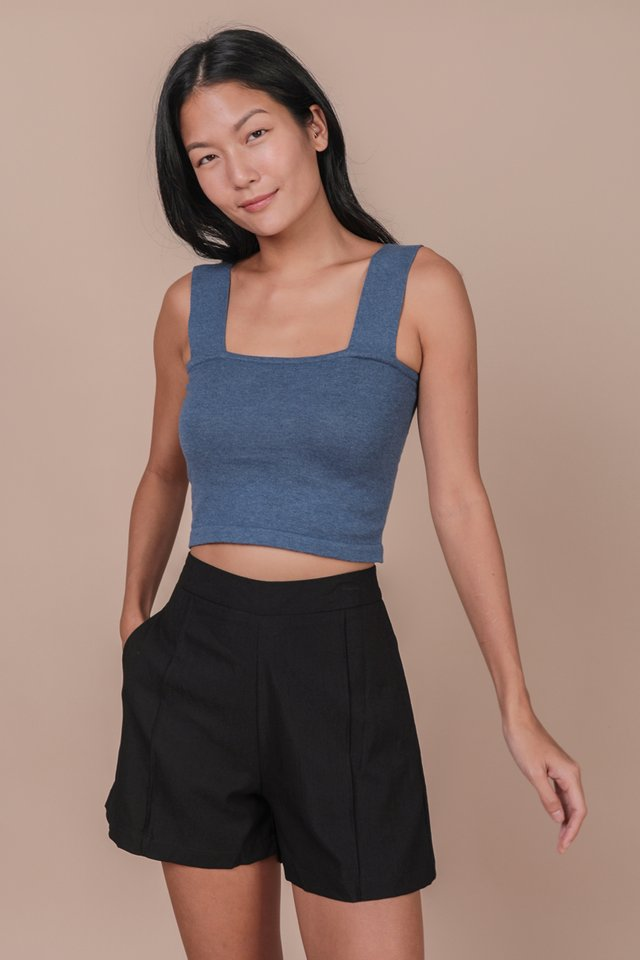 Harley Knit Top (Slate Blue)