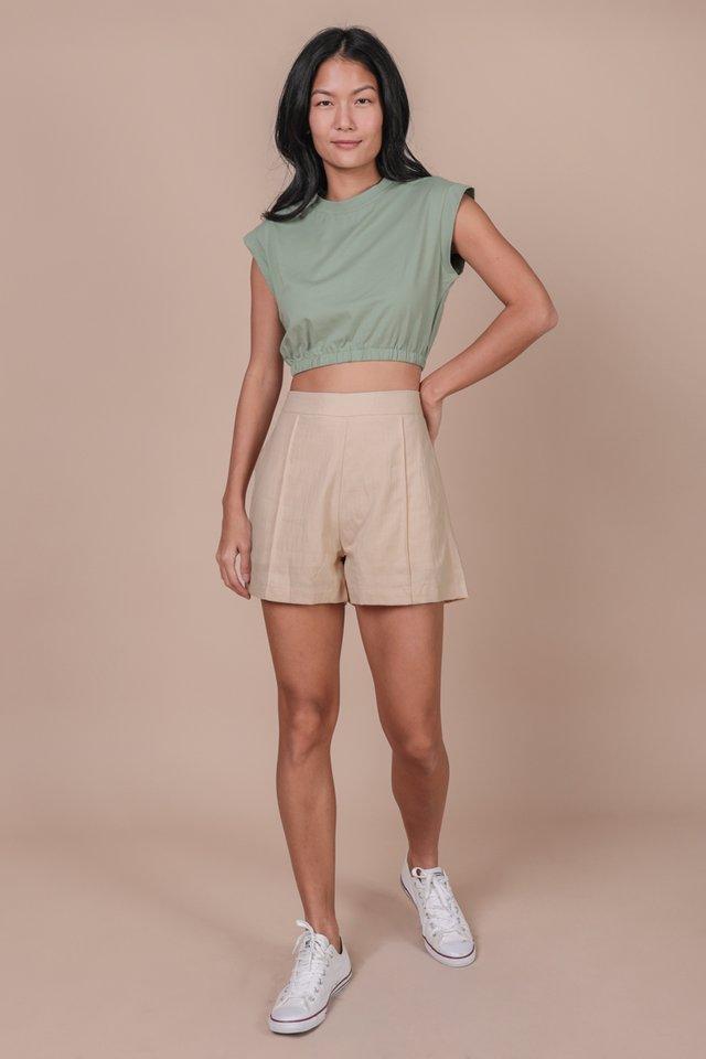Leyla Cropped Top (Matcha)