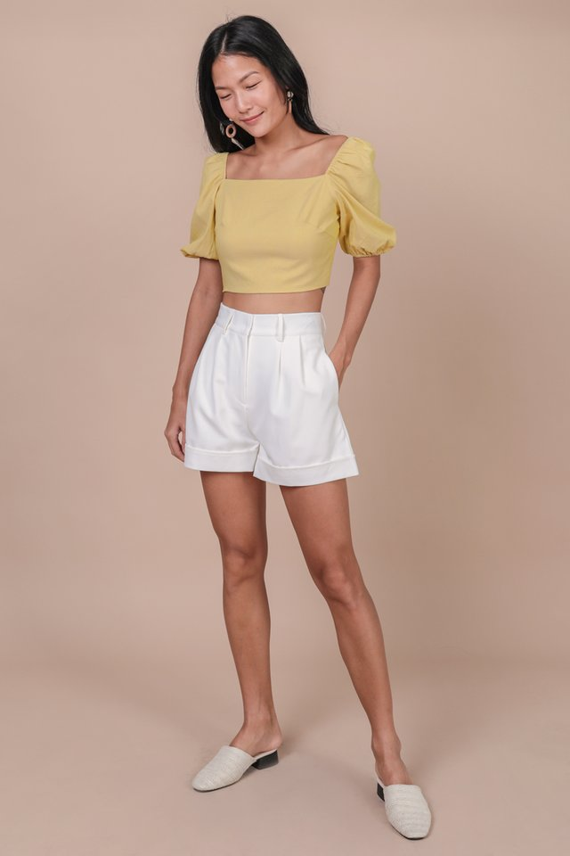 Brook Tailored Shorts (White)