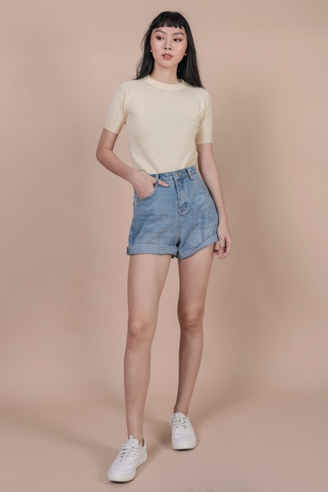 Darin Sleeve Knit Top (Cream)