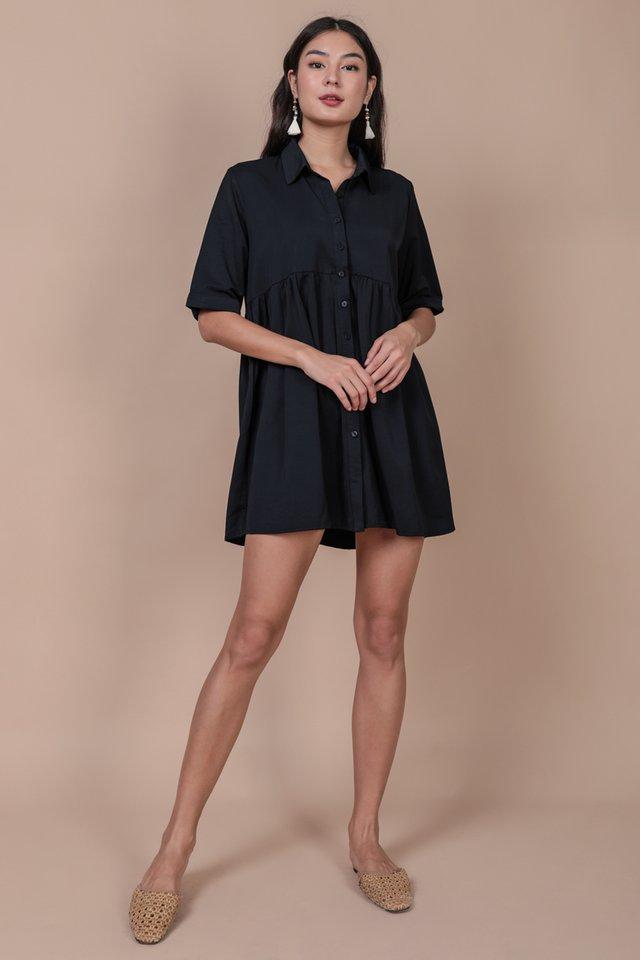 Perry Babydoll Dress (Navy)