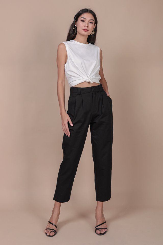 Rico Peg Leg Pants (Black)