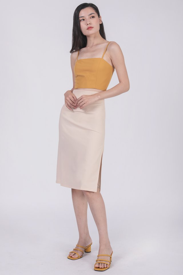 Martha Midi Skirt (Cream)