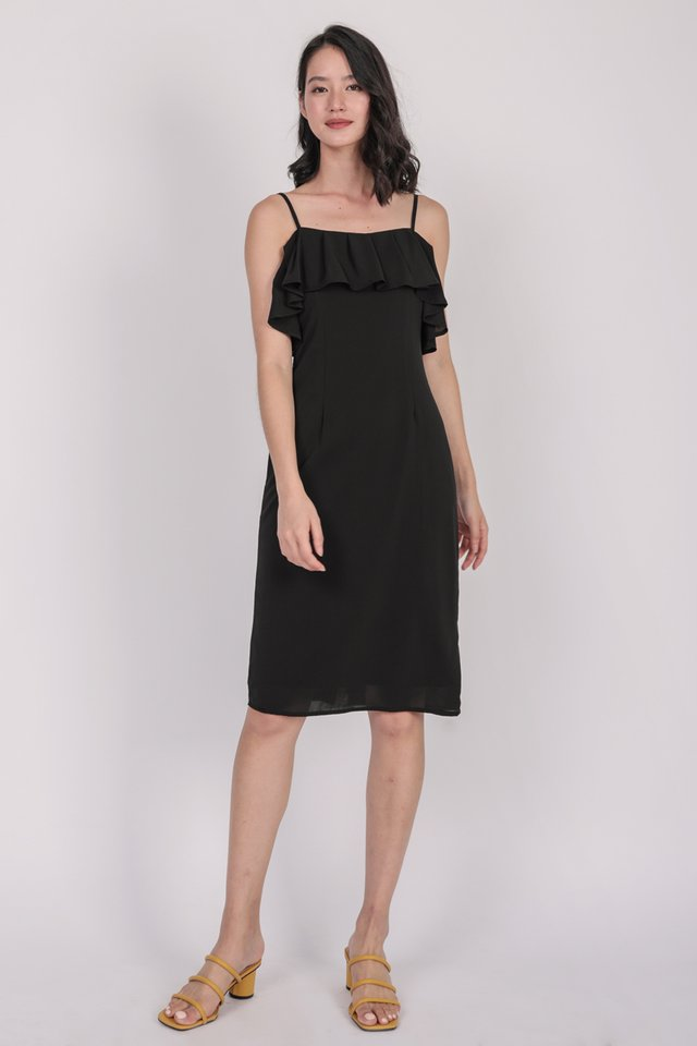 Kerin Ruffles Dress (Black)