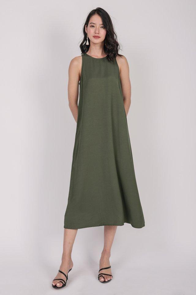 Mex Tent Dress (Olive)
