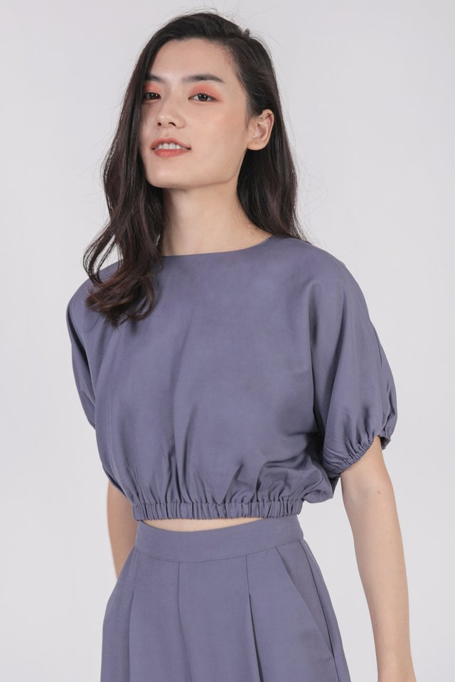 Hathaway Top (Dusty Blue)