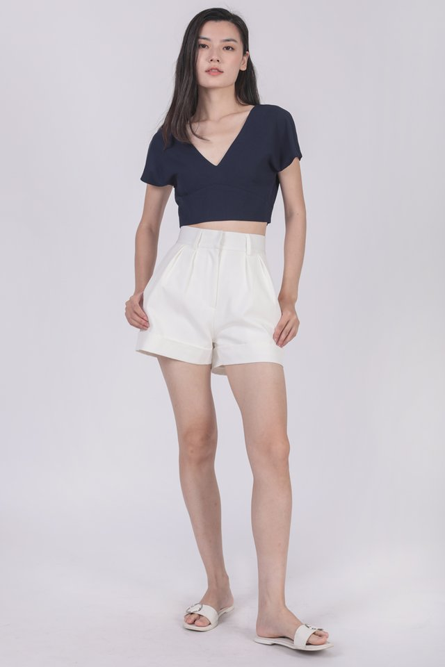 Juda Cropped Top (Navy)