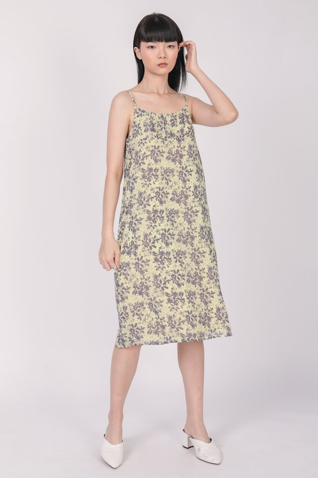 Medina Midi Dress (Hibiscus)