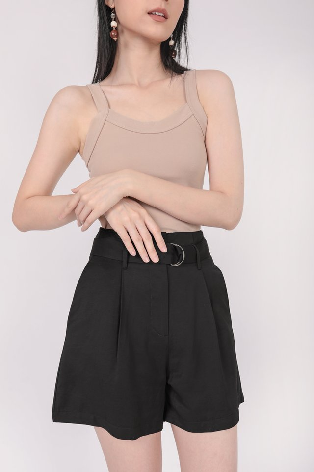 Harris Belted Shorts (Black)