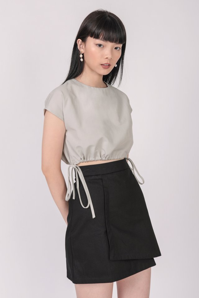 Ray Drawstring Top (Grey)