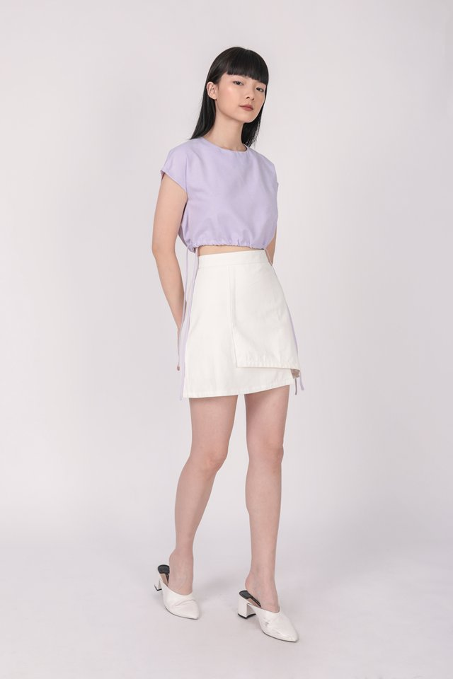 Ray Drawstring Top (Lilac)