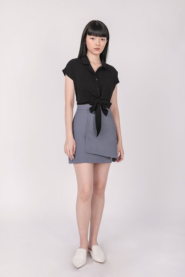 Tori Tie Front Top (Black)