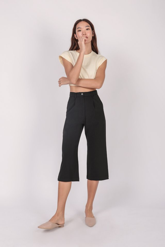 Clan Straight Leg Culottes (Black) - Preview