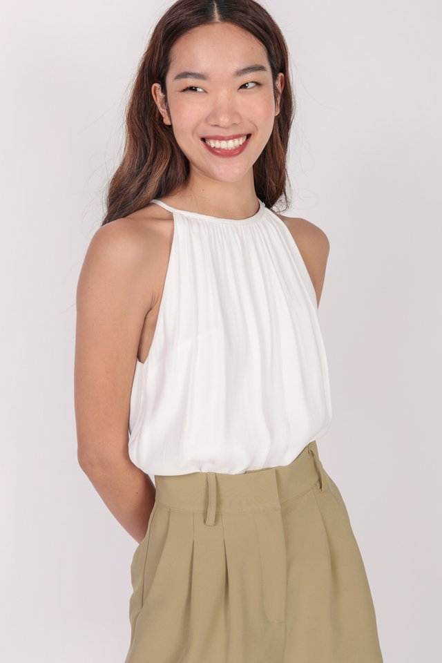 Hira Halter Top (White)