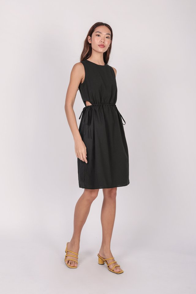 Jonah Cut Out Dress (Black) - Preview