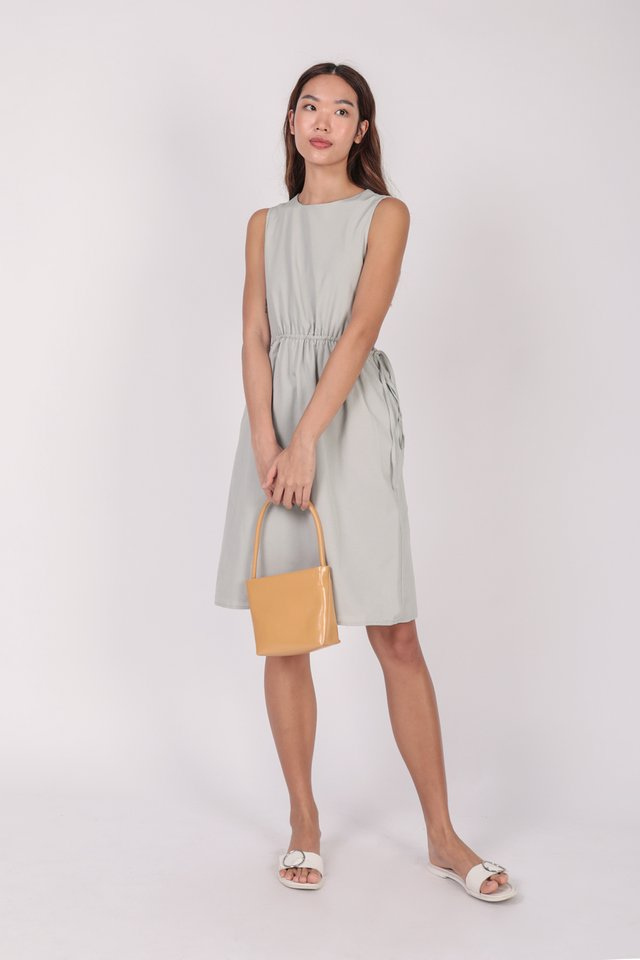 Jonah Cut Out Dress (Light Grey) - Preview
