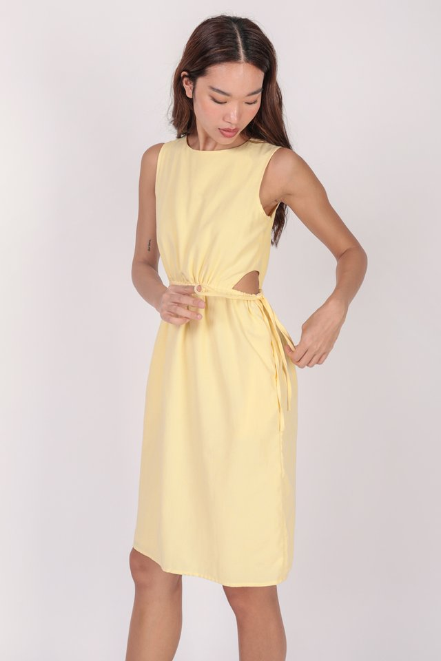 Jonah Cut Out Dress (Yellow) - Preview