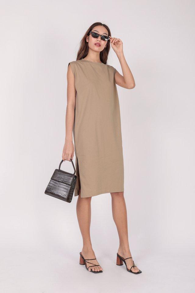 Randall Midi Dress (Tan)
